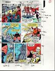 Original 1989 Avengers 312 Marvel Comics color guide art pg:Vision/Scarlet Witch