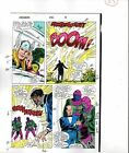 1988 Buscema Avengers 296 Marvel Comics color guide art page 25: She-Hulk/Thor