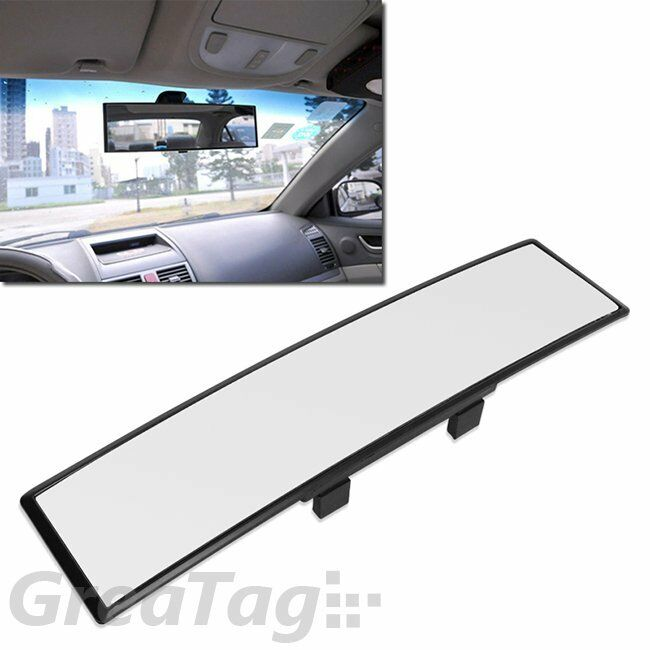 auto car suv 300mm wide convex curve interior clip on panoramic rear view mirror ebay. Black Bedroom Furniture Sets. Home Design Ideas