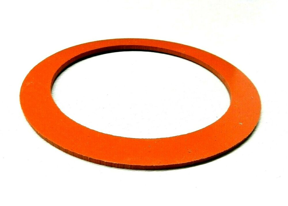Silicone rubber gaskets for vacuum perforated flasks