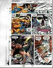 1991 Marvel Comics Avengers 328 color guide art page 9: Captain America/Iron Man