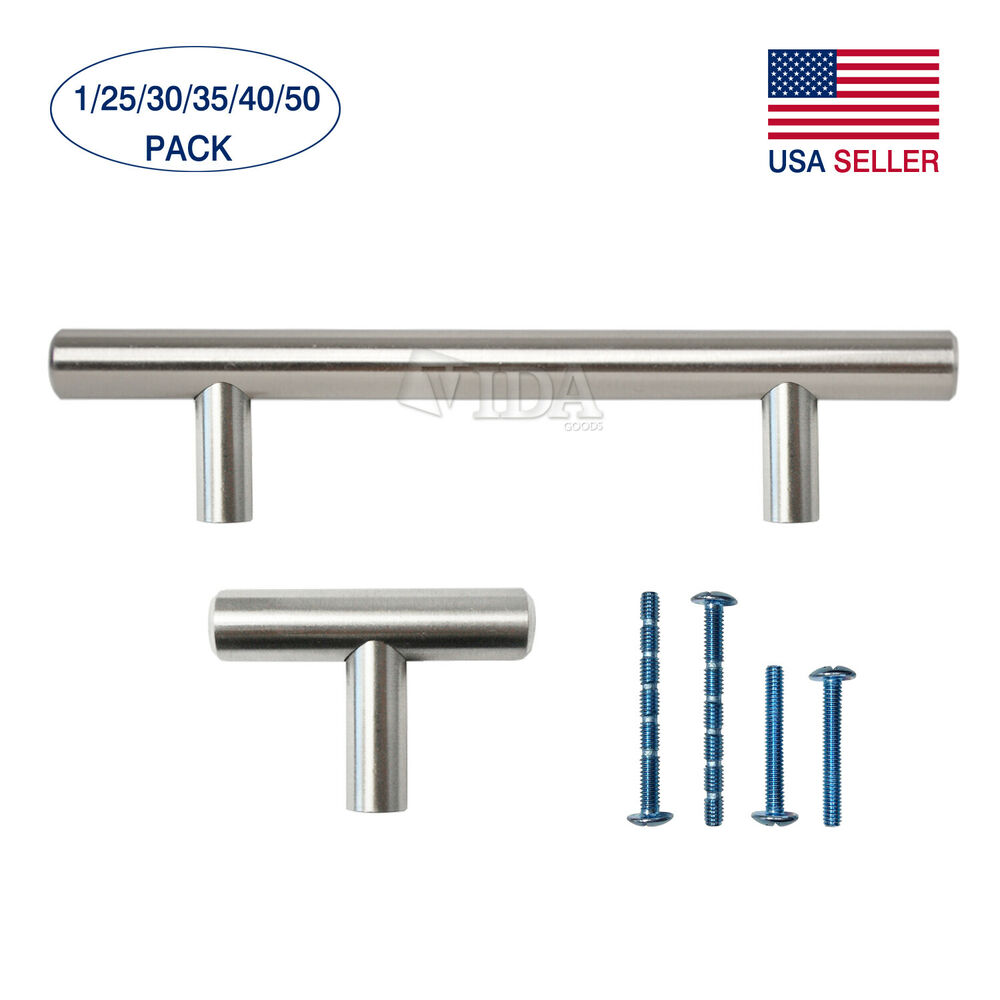 2 4 5 6 8 10 stainless steel kitchen cabinet handles for Cabinets handles and knobs