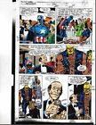 1991 Avengers 332 page 9 original Marvel Comics color guide art:Captain America