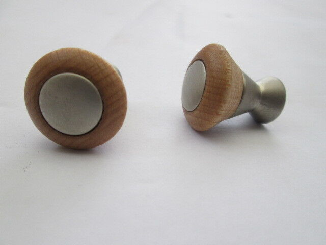 10 X Beech Wooden Decorative Cupboard Cabinet Drawer Furniture Knobs Handles Ebay