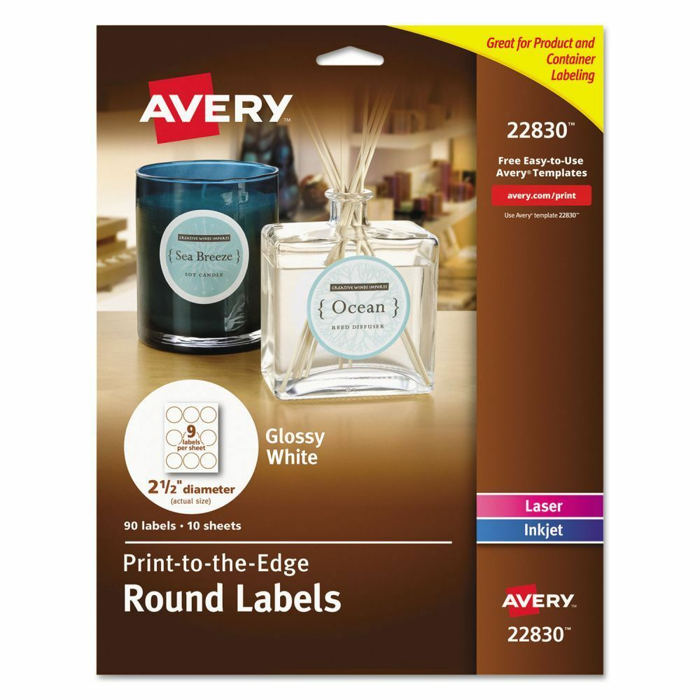 Avery Print To The Edge Round Labels