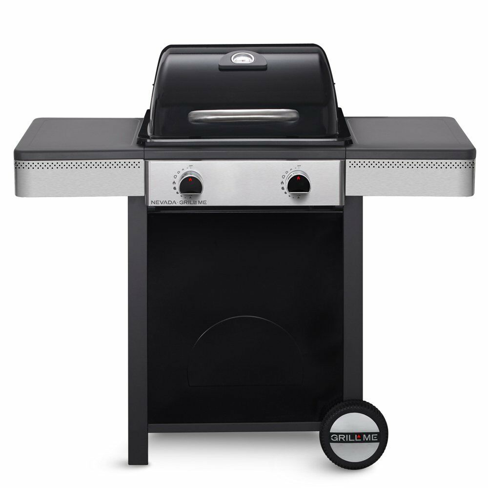 bbq gas grill barbecue grill me nevada 2 burner black free delivery ebay. Black Bedroom Furniture Sets. Home Design Ideas