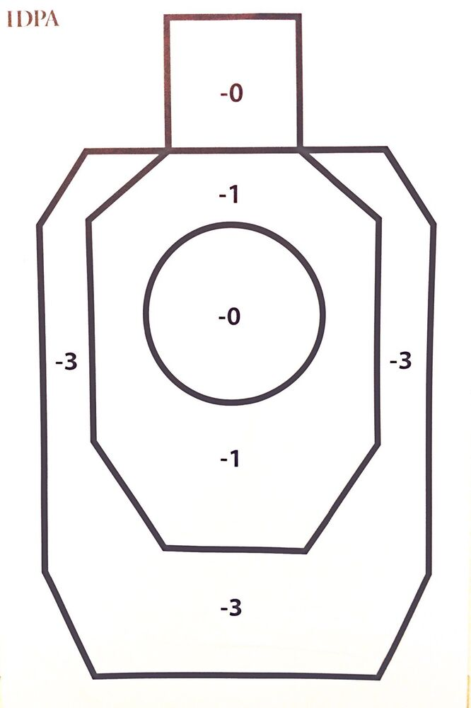 Paper silhouette targets