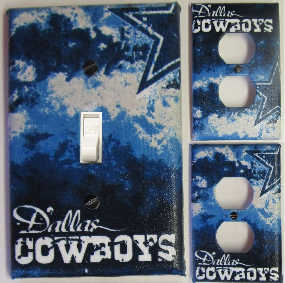 dallas cowboys custom light switch wall plate covers man cave room