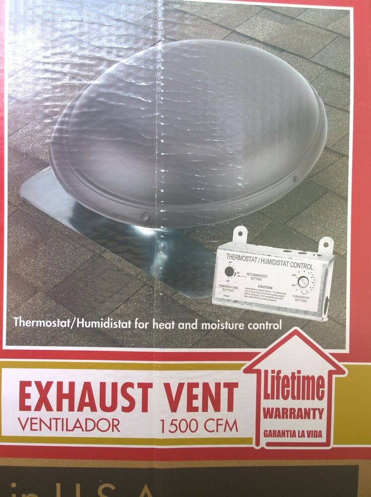 Nib Home Roof Mount 1500 Cfm Attic Fan W Thermostat