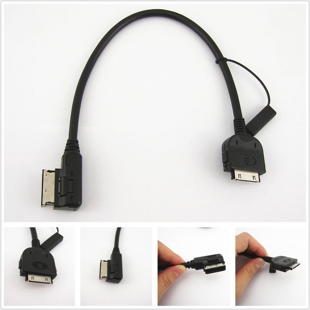 aux music interface ami mmi cable adapter for ipod iphone. Black Bedroom Furniture Sets. Home Design Ideas