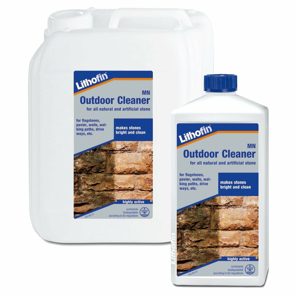 Lithofin mn outdoor cleaner dirt remover for pathways for Driveway stain remover