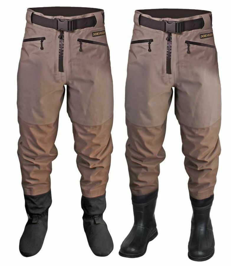 New scierra cc3 xp waist waders stocking foot or boot foot for Fishing waders with boots