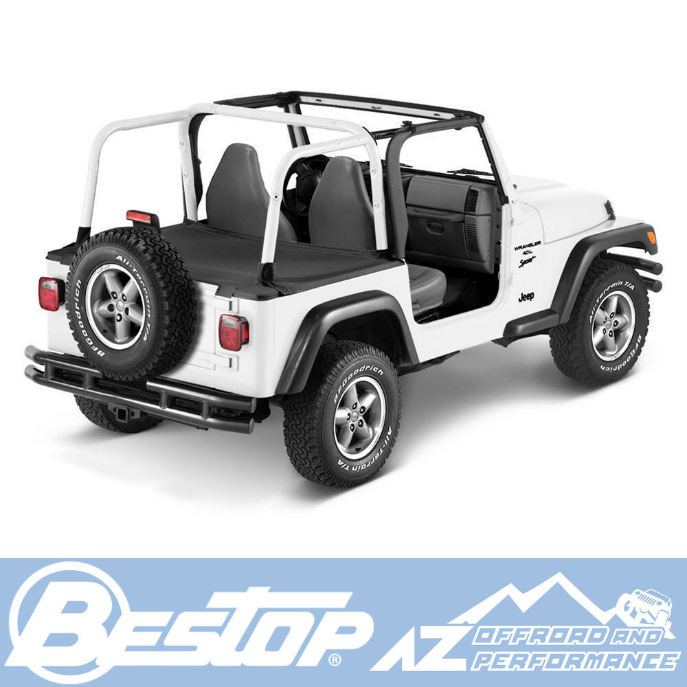 Bestop Duster Deck Cover 92-95 Jeep Wrangler YJ Black