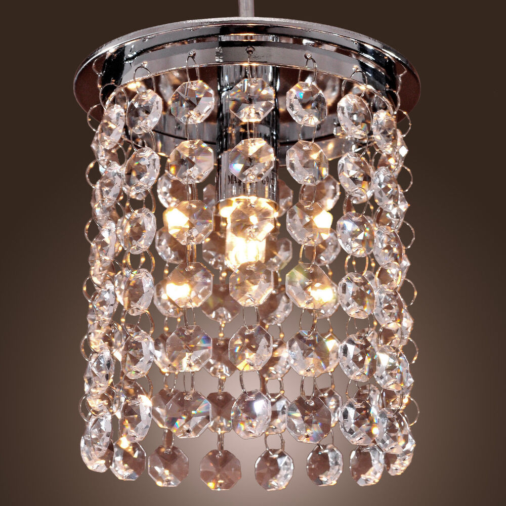 Silver shell crystal flush mount chandelier lamp ceiling - Small ceiling light fixtures ...