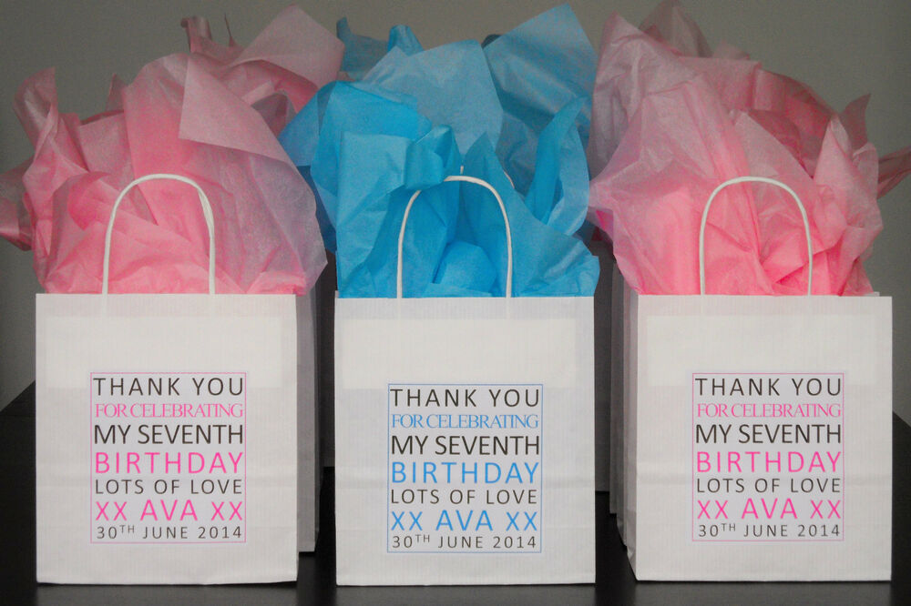 Personalised Children S Party Bags Thank You Anniversary