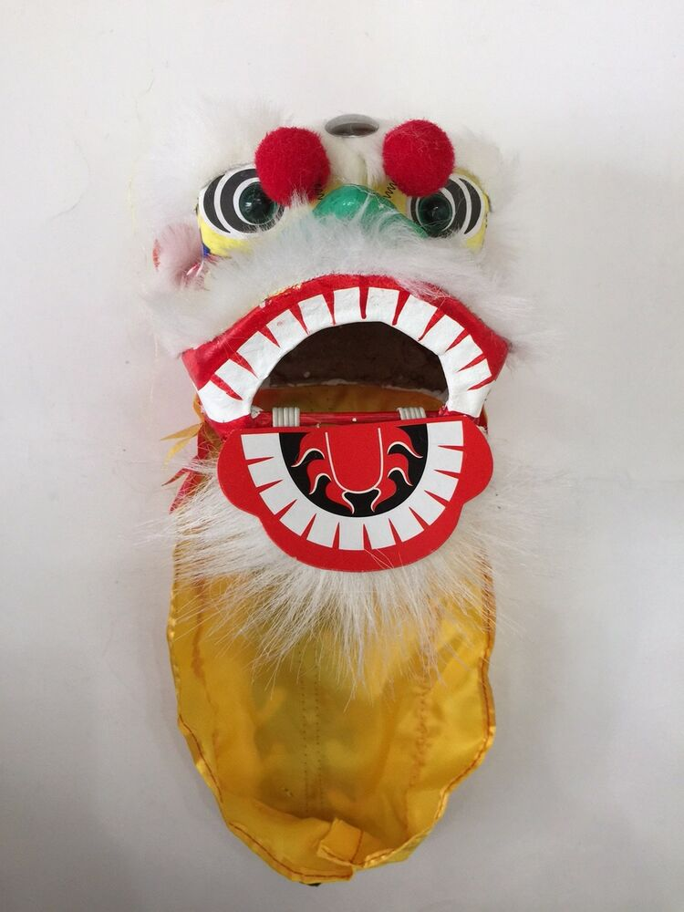 "4.5"" MINI CHINESE NEW YEAR LION DRAGON HEAD DANCE ..."