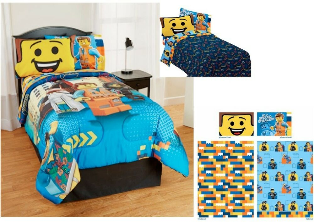 kids girls boys lego movie bedding bed in a bag comforter set ebay. Black Bedroom Furniture Sets. Home Design Ideas