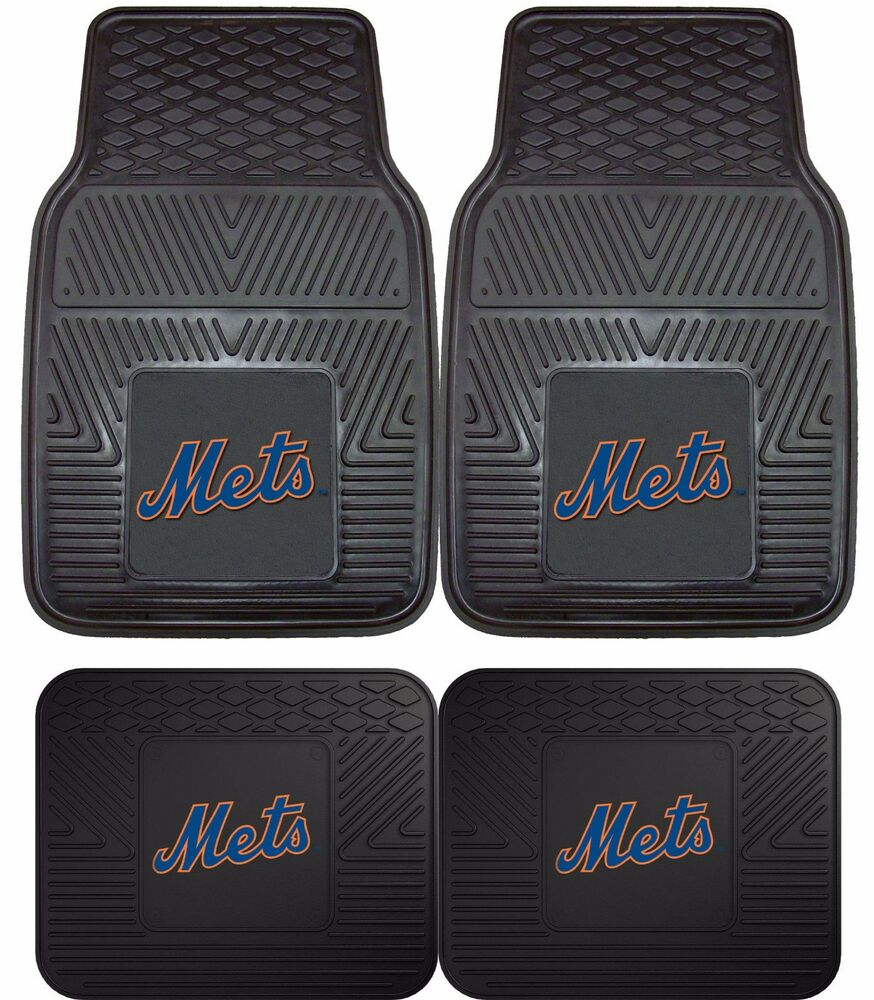 New York Mets Heavy Duty Mlb Floor Mats 2 Amp 4 Pc Sets For