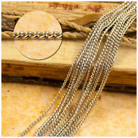 2m  x 1mm Silver Plated Chain  084s