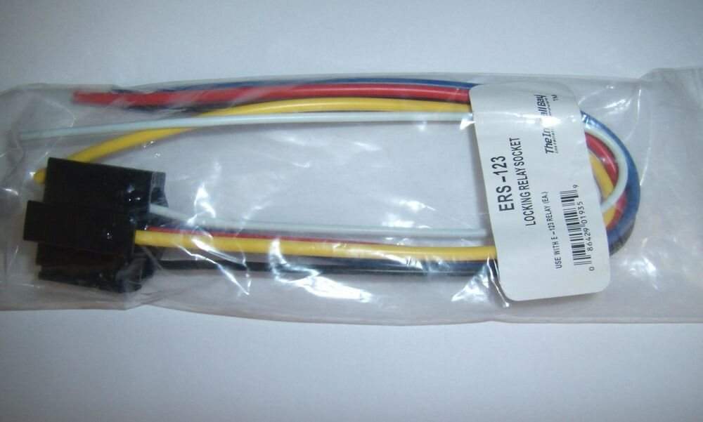 1  12v Dc Spdt Relay Socket Harness 5 Pin Wire 16