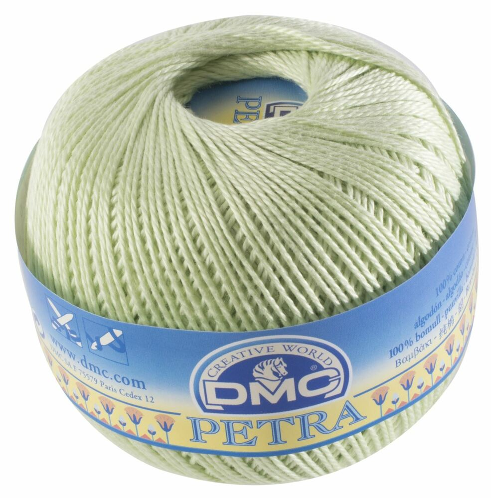 Crochet Thread Sizes : DMC Petra Crochet Thread - Colour: 5772 - Cotton - Size 3 - 100g ...