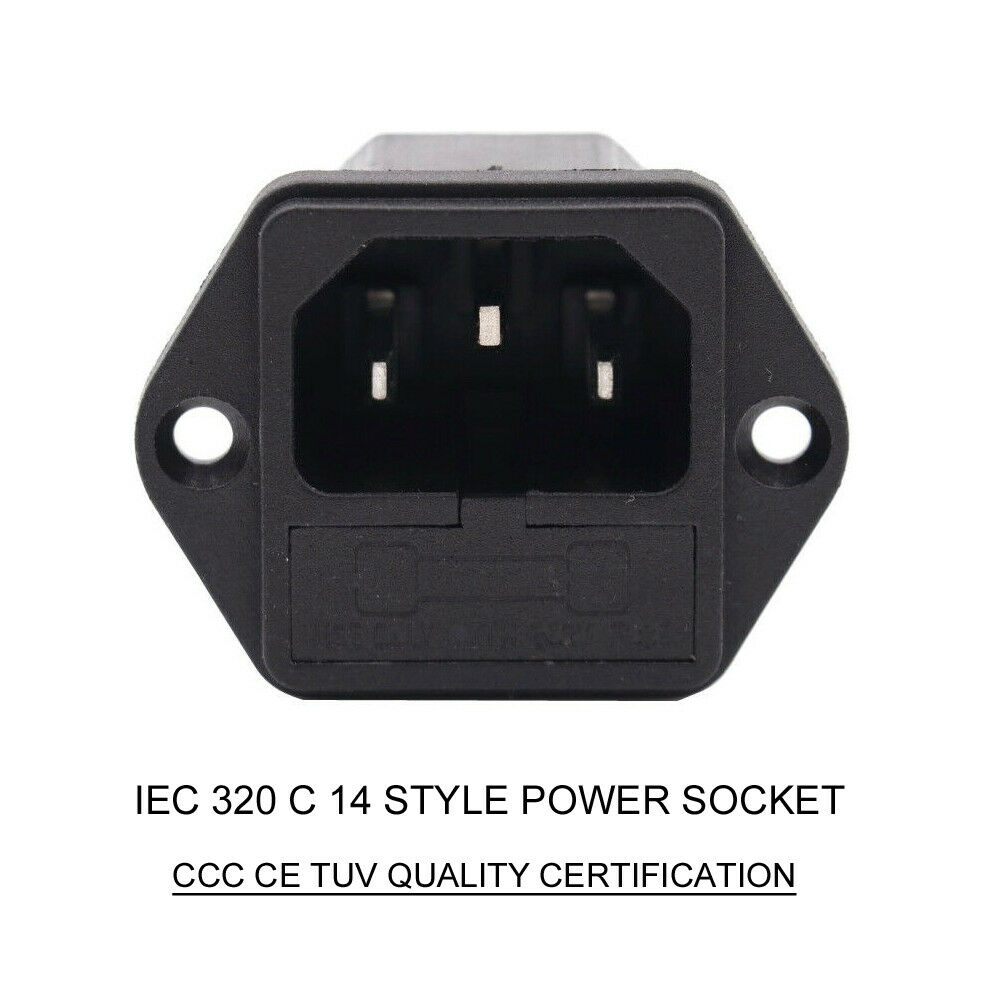 Iec320 C14 Male Ac Power Socket Cod Inlet Receptacle Connector 250v  10a Ccc X2