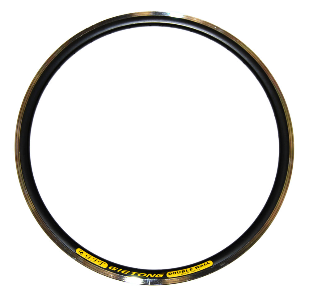 Gietong pair of 26 double wall bicycle rims mountain bike for Bicycle rims