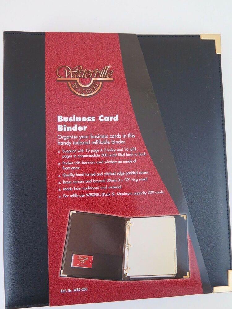 Waterville a4 3 ring business card binder w80200 black w80200black waterville a4 3 ring business card binder w80200 black w80200black 9314486000340 ebay reheart Image collections