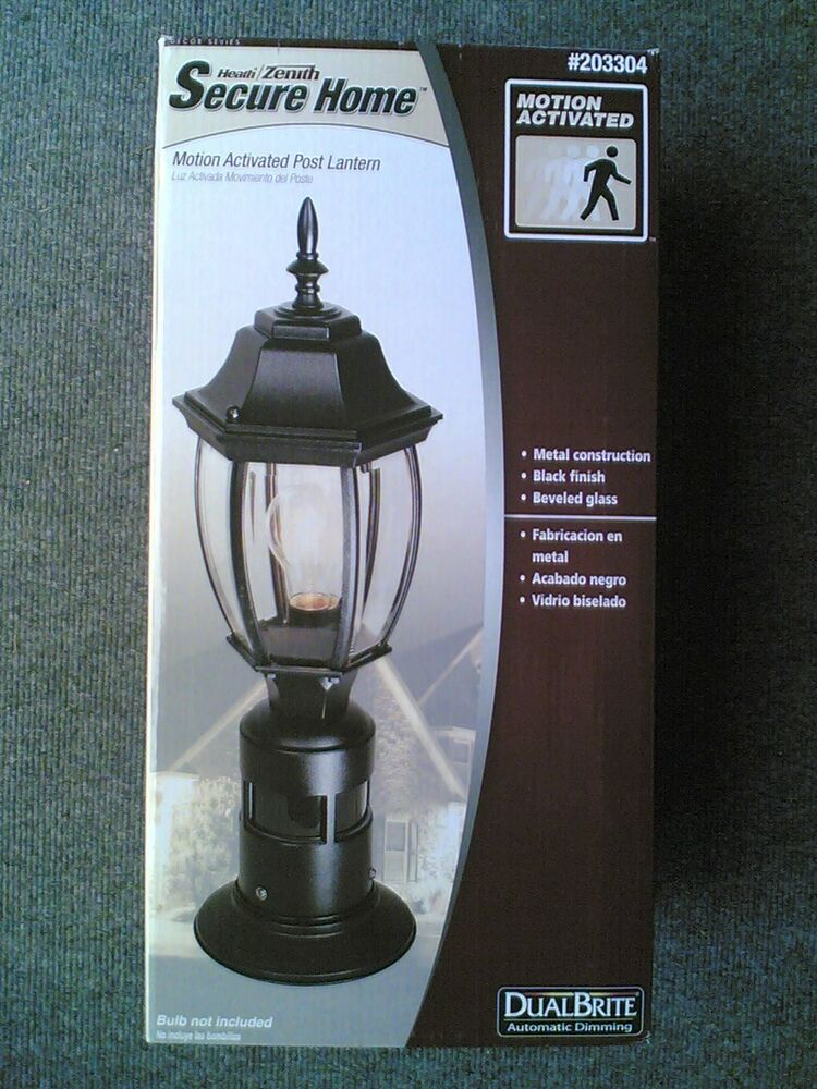 dusk to dawn or 360 degree motion activated security post light ebay. Black Bedroom Furniture Sets. Home Design Ideas