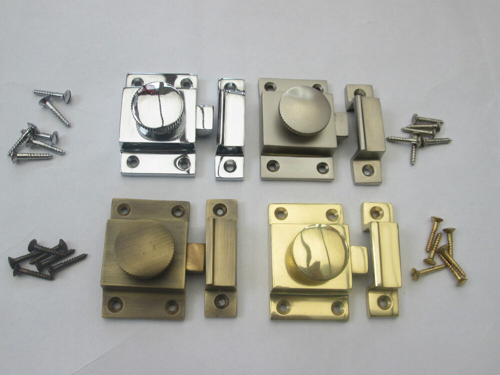 Solid brass old style cupboard cabinet showcase door catch - Old fashioned interior door locks ...