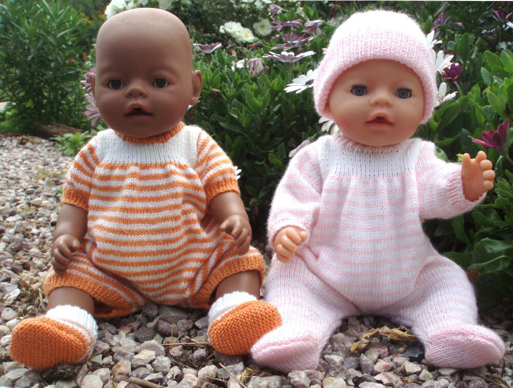 Knitted All In One Baby Suit Pattern : Felicity KNITTING PATTERN for making Baby Born Doll Clothes All in One - Ones...