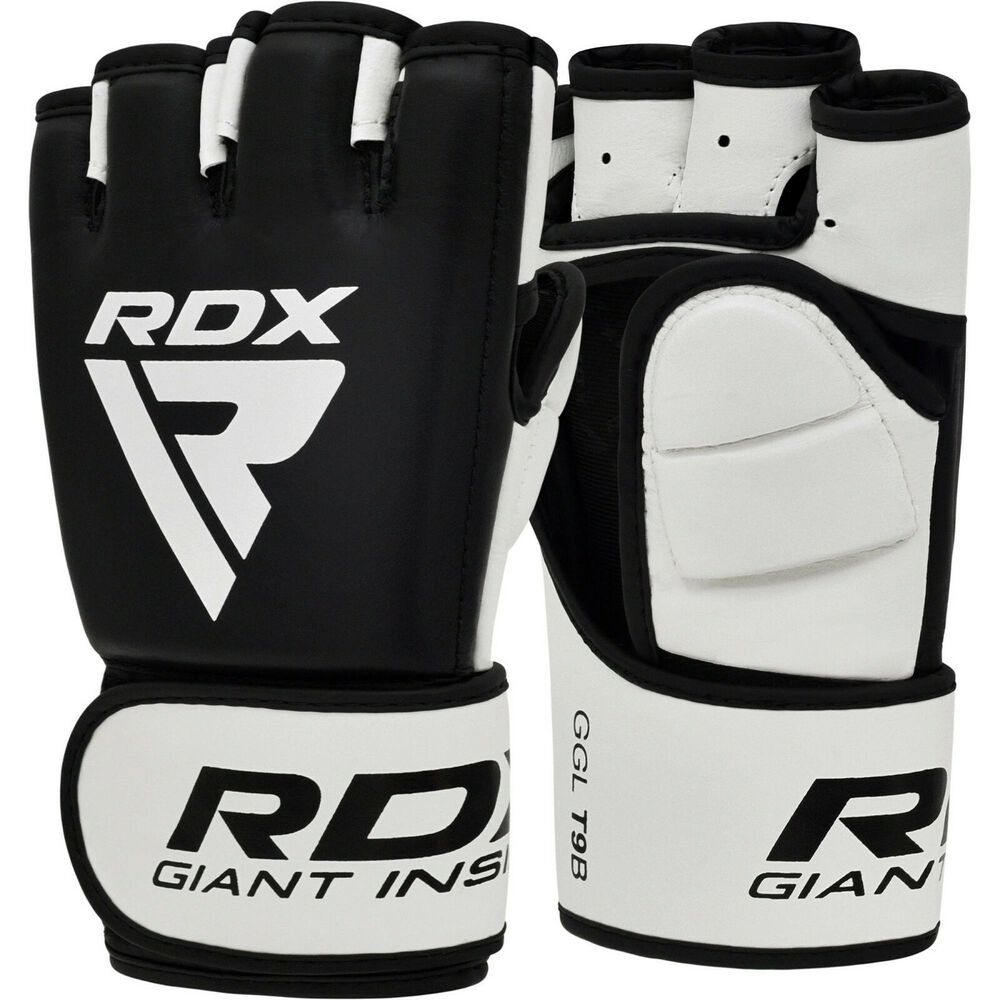 Maxx® Gel Leather Boxing Gloves Fight PunchBag UFC Muay Thai Grappling Glove mma