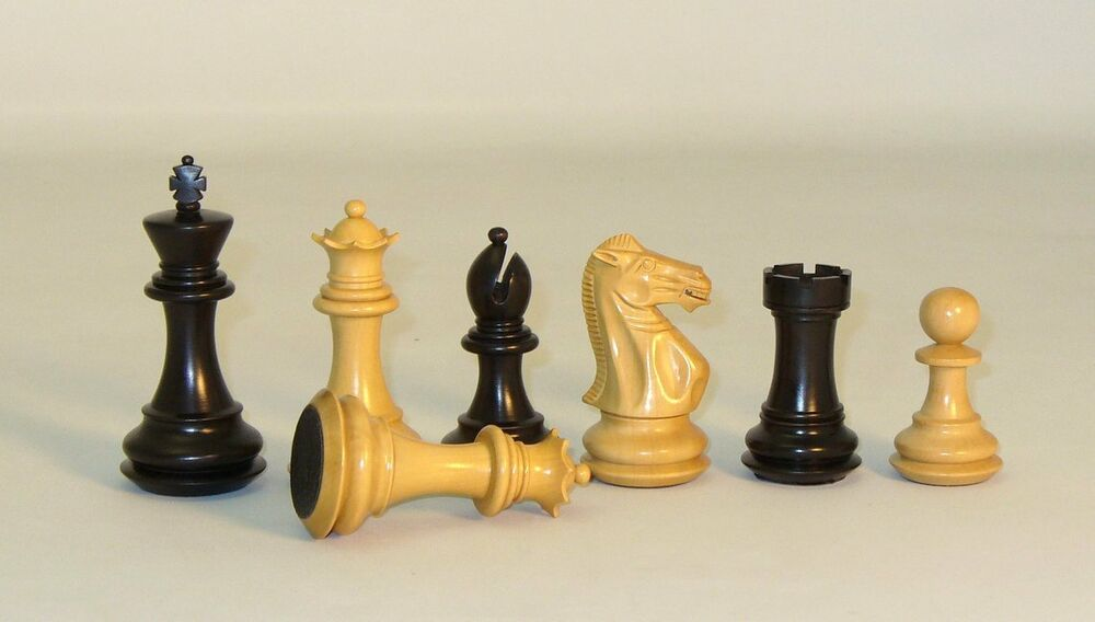 Exclusive deluxe chess pieces double queens 4 king triple weighted ebay - Deluxe chess sets ...