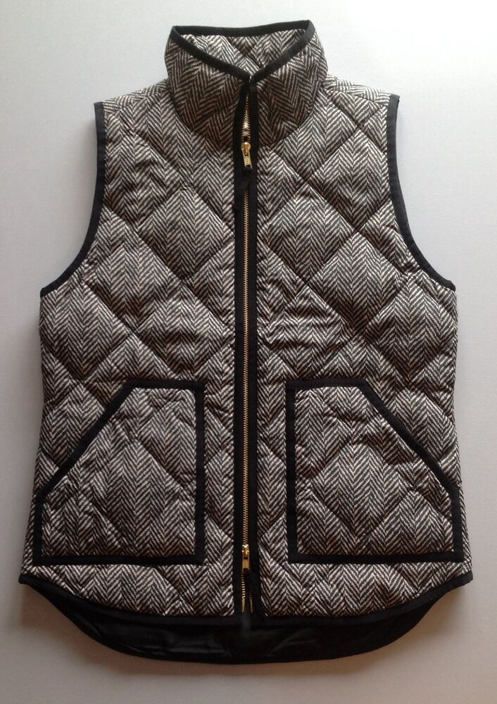 J Crew Factory Excursion Quilted Puffer Vest In
