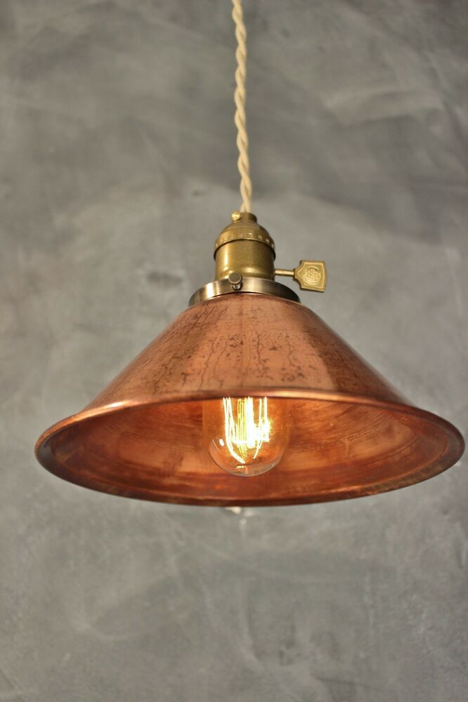 copper pendant lamp vintage industrial hanging light ebay
