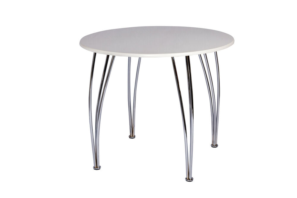 EMILY 4 Seater Round Wooden Dining Table White MDF Top  : s l1000 from www.ebay.co.uk size 1000 x 666 jpeg 29kB
