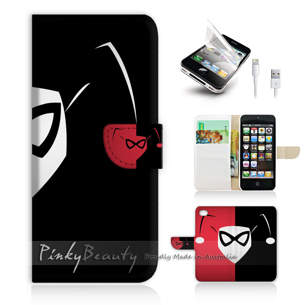 iphone photo printer case iphone 5c print flip wallet cover harley quinn p0137 9842