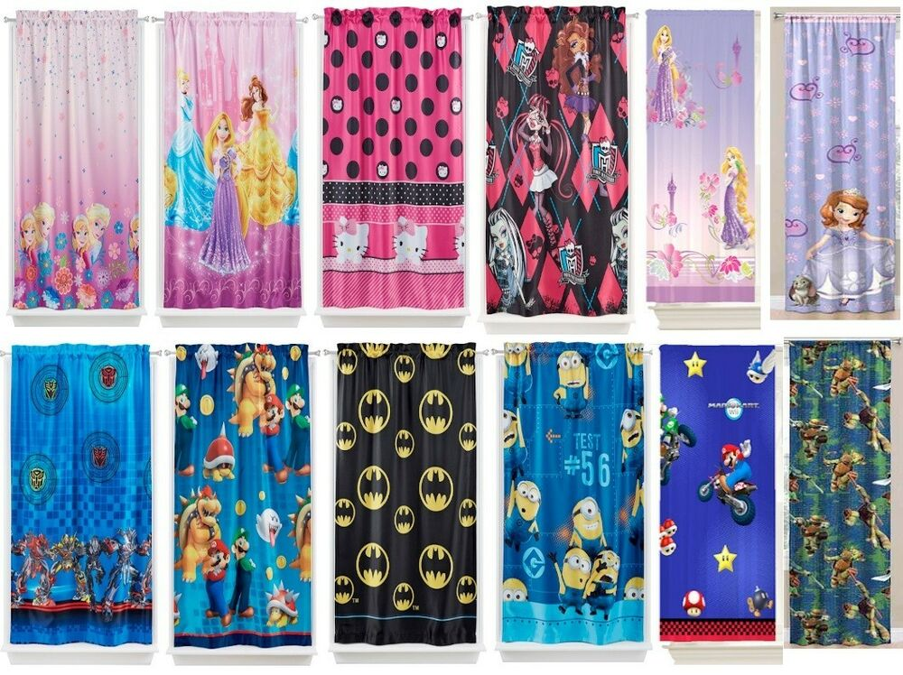 KIDS GIRLS BOYS ROOM DARKENING WINDOW CURTAINS DRAPES Sold As - Room darkening curtains for kids