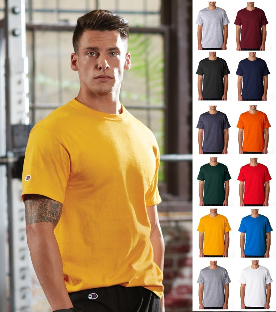 champion men 39 s short sleeve tee t shirt 425 t425 sizes s. Black Bedroom Furniture Sets. Home Design Ideas
