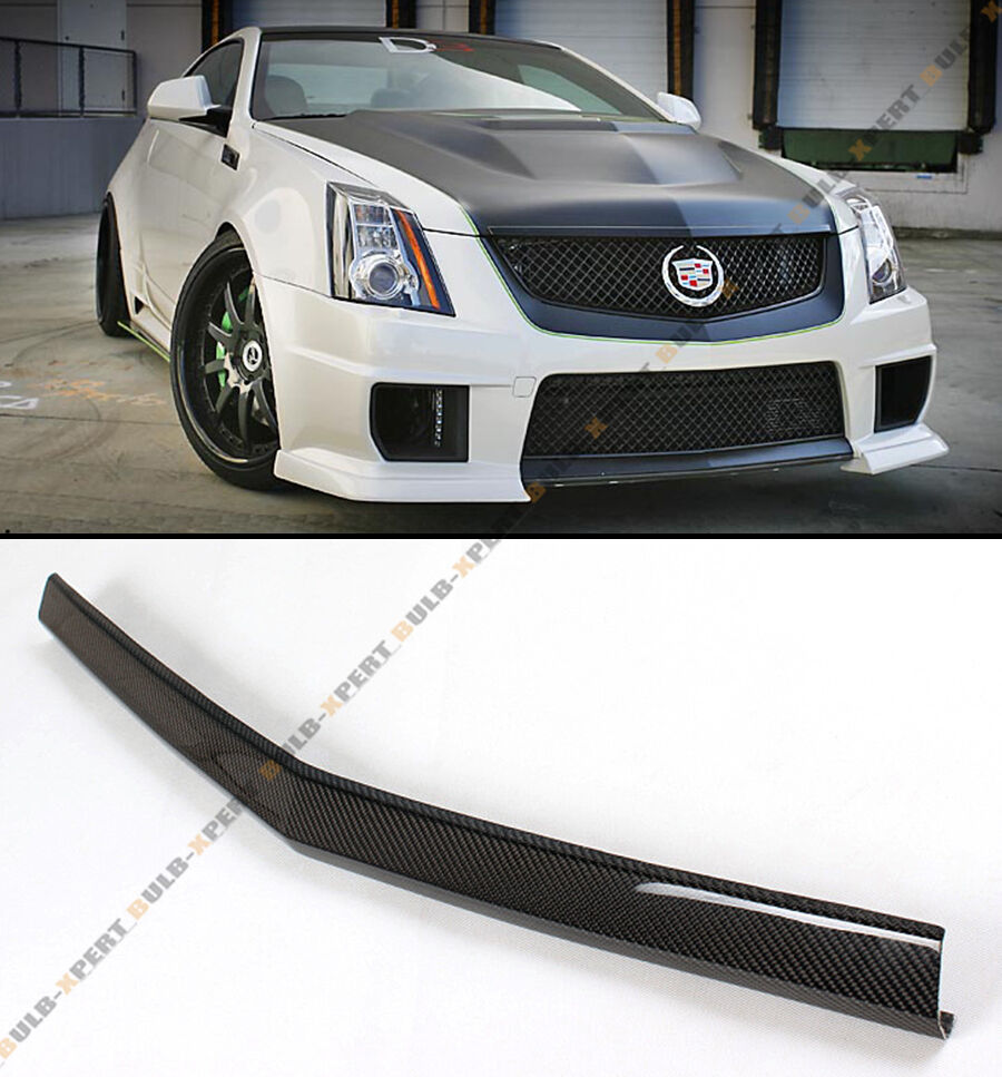 2013 Cadillac Cts Coupe >> CARBON FIBER FRONT BUMPER CENTER LIP SPOILER FOR 2013-14 ...