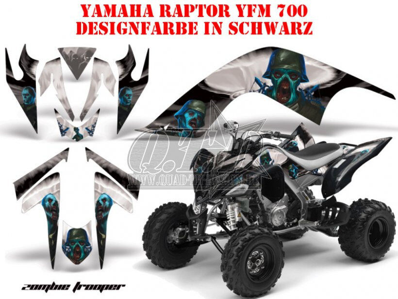 AMR RACING DEKOR KIT ATV YAMAHA RAPTOR YFM 125/250/350/660/700 ...