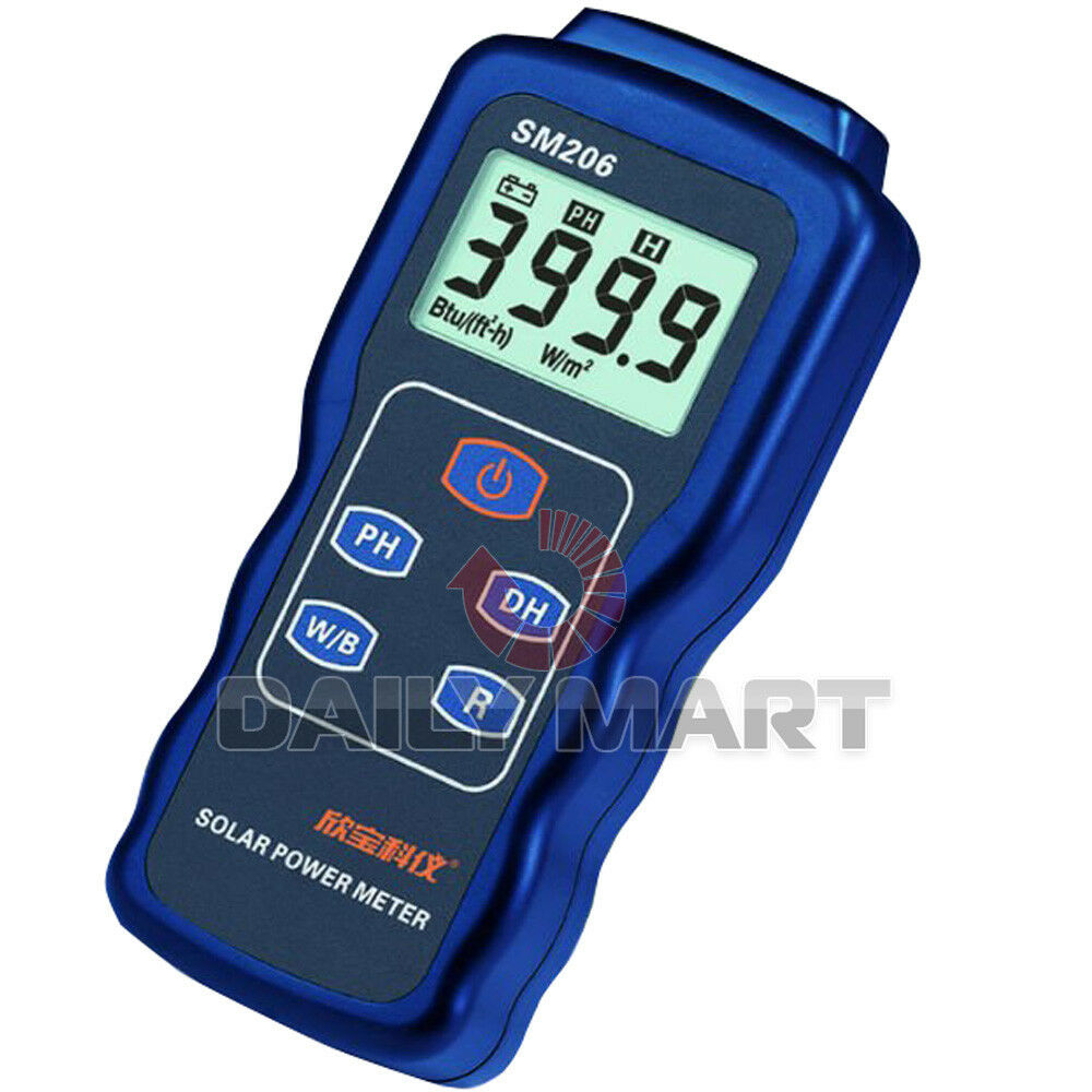 Electrical Meter Testers : Sm new handheld solar power meter panel performance