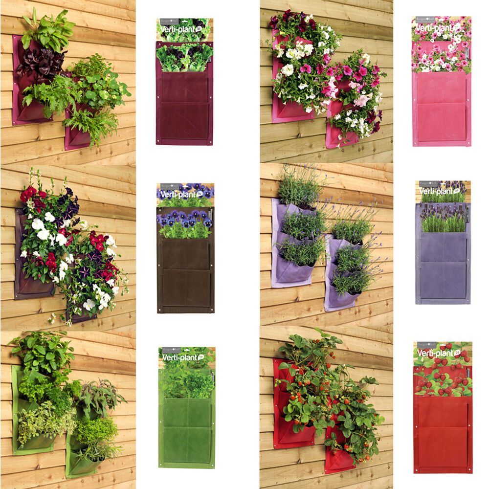 burgon and ball verti plant vertical wall planters pockets. Black Bedroom Furniture Sets. Home Design Ideas