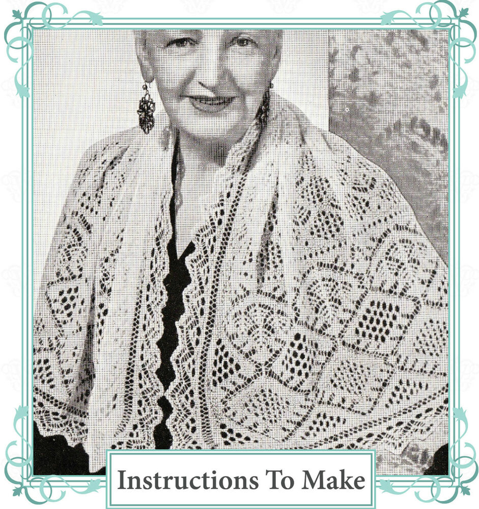 Knitting History Facts : Vintage knitting pattern ladies delicate shetland diamond