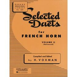 Selected Duets for French Horn Volume 2 - Advanced Ensemble Collection 004471010