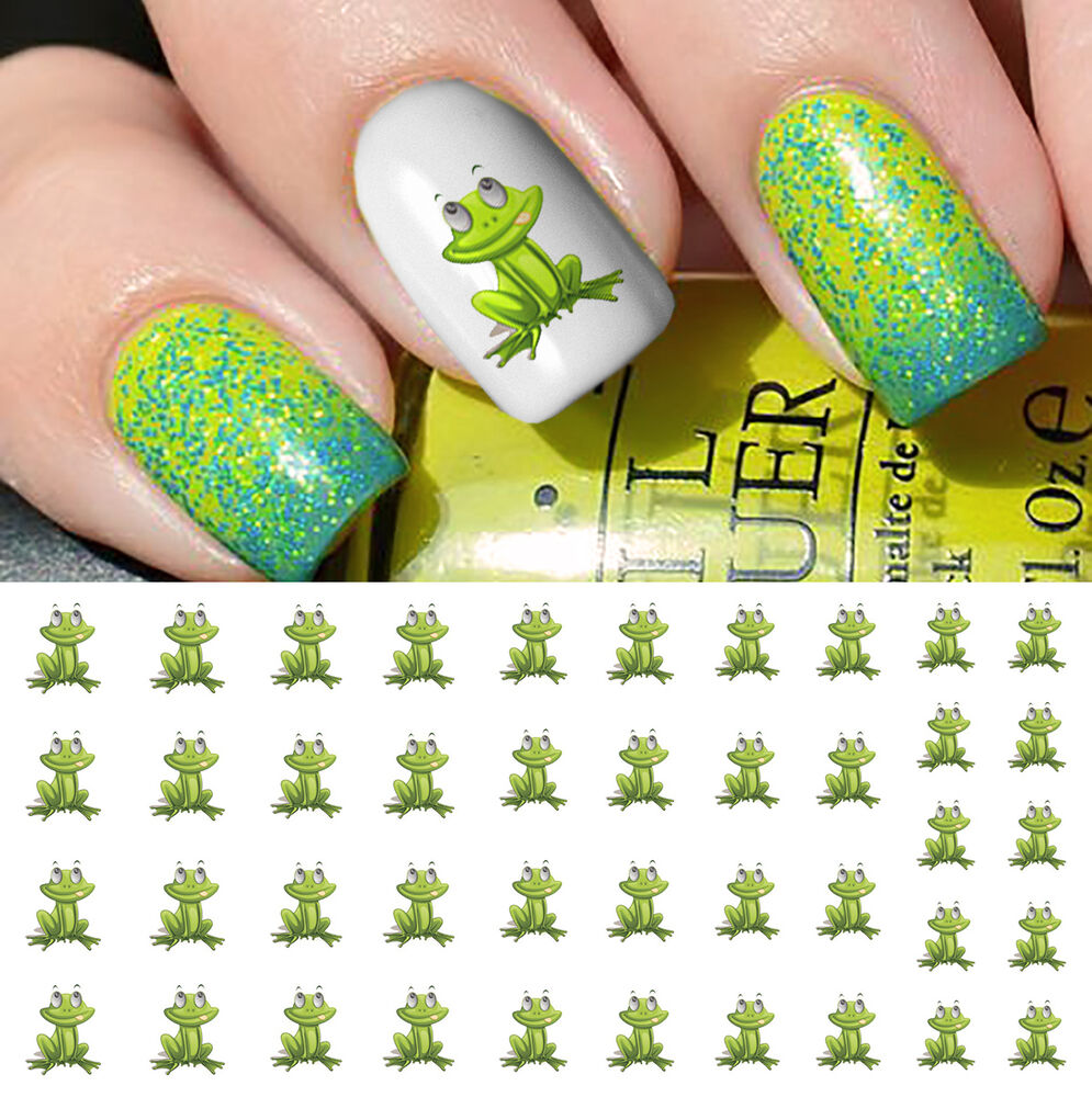 Frog Nail Art: Frog Nail Art Waterslide Decals - Salon Quality!