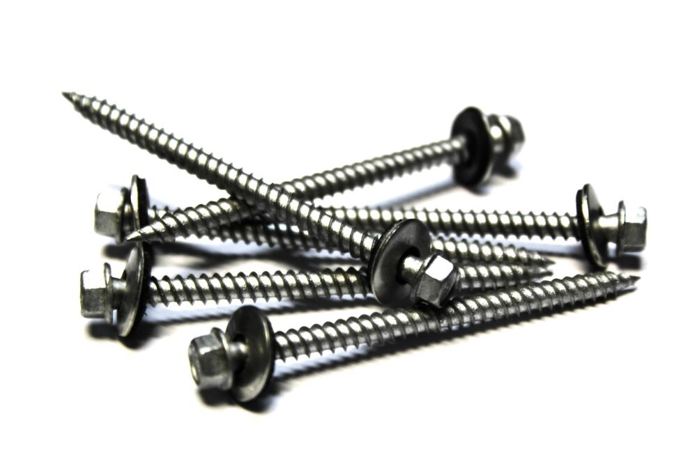 250 9x2 1 2 Hex Head Roofing Screws With Neoprene Washer