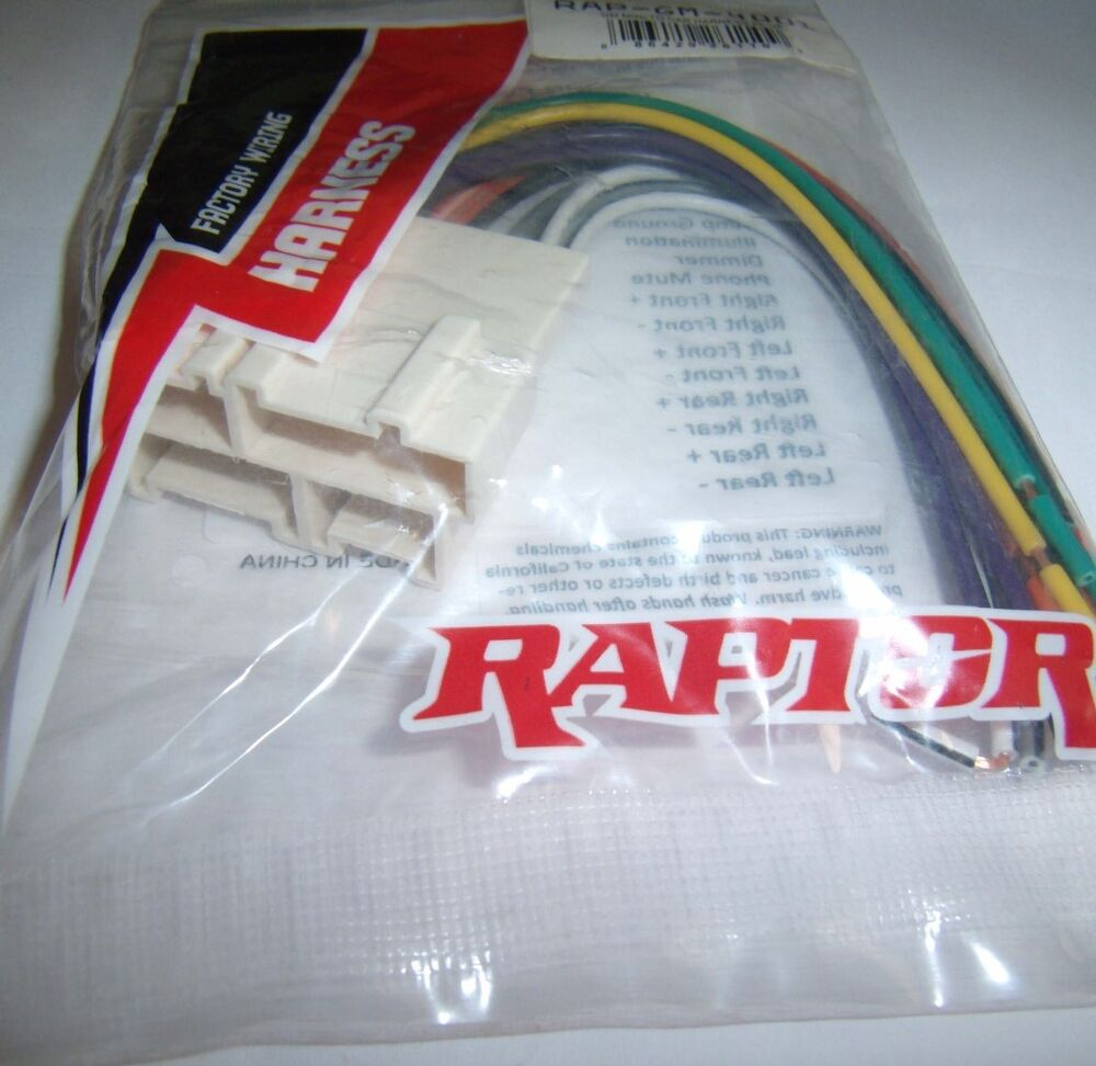 Gm4001 Gm Wire Harness Aftermarket Radio Replace Factory