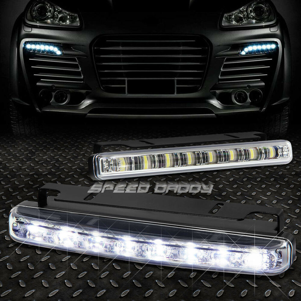 6 25 Quot 8 White Smd Led Drl Daytime Driving Fog Ultra Slim