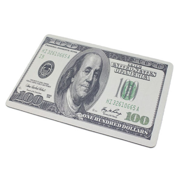 100 Dollar Money Game Mouse Pad Mat Mousepad Comfort